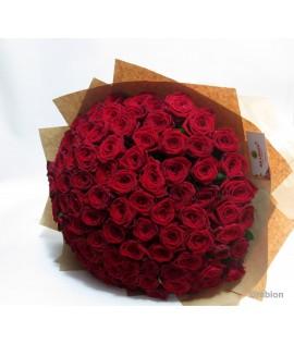 Red Naomi  101 հատ վարդ